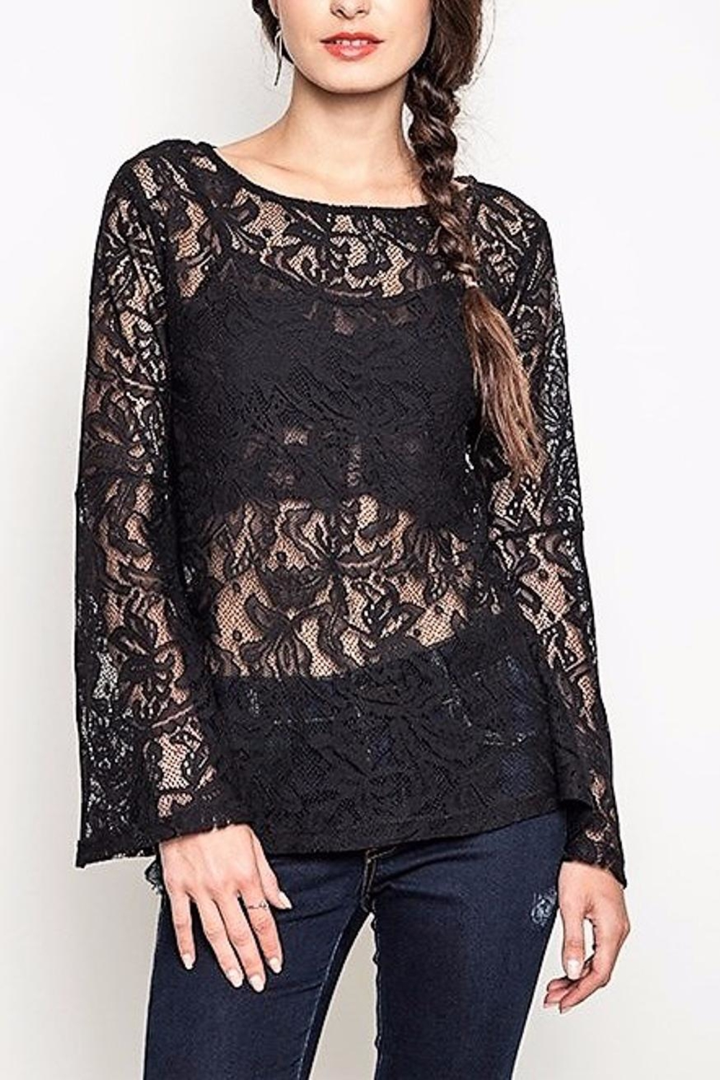 People Outfitter Black Lace Top - Main Image
