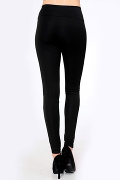 People Outfitter Black Mesh Yoga- Tight - Alternate List Image