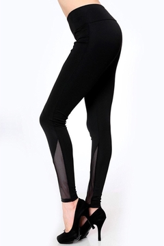 People Outfitter Black Mesh Yoga- Tight - Product List Image