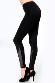 People Outfitter Black Mesh Yoga- Tight - Product Mini Image