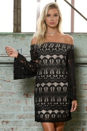People Outfitter Black Off The Shoulder Lace Dress - Product Mini Image