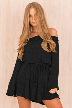 People Outfitter Black Off The Shoulder Sweater Dress - Product List Image