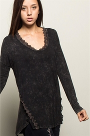 People Outfitter Black Stonewashed Tunic Top - Front cropped