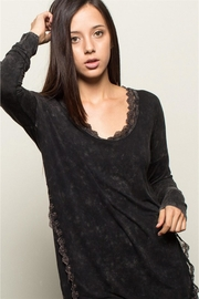 People Outfitter Black Stonewashed Tunic Top - Front full body