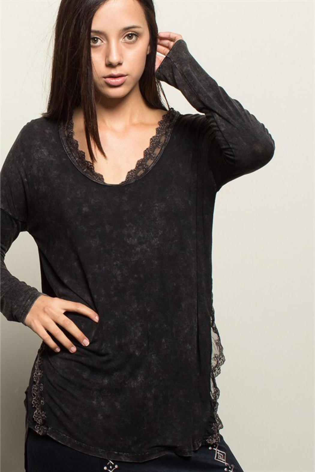 People Outfitter Black Stonewashed Tunic Top - Side Cropped Image