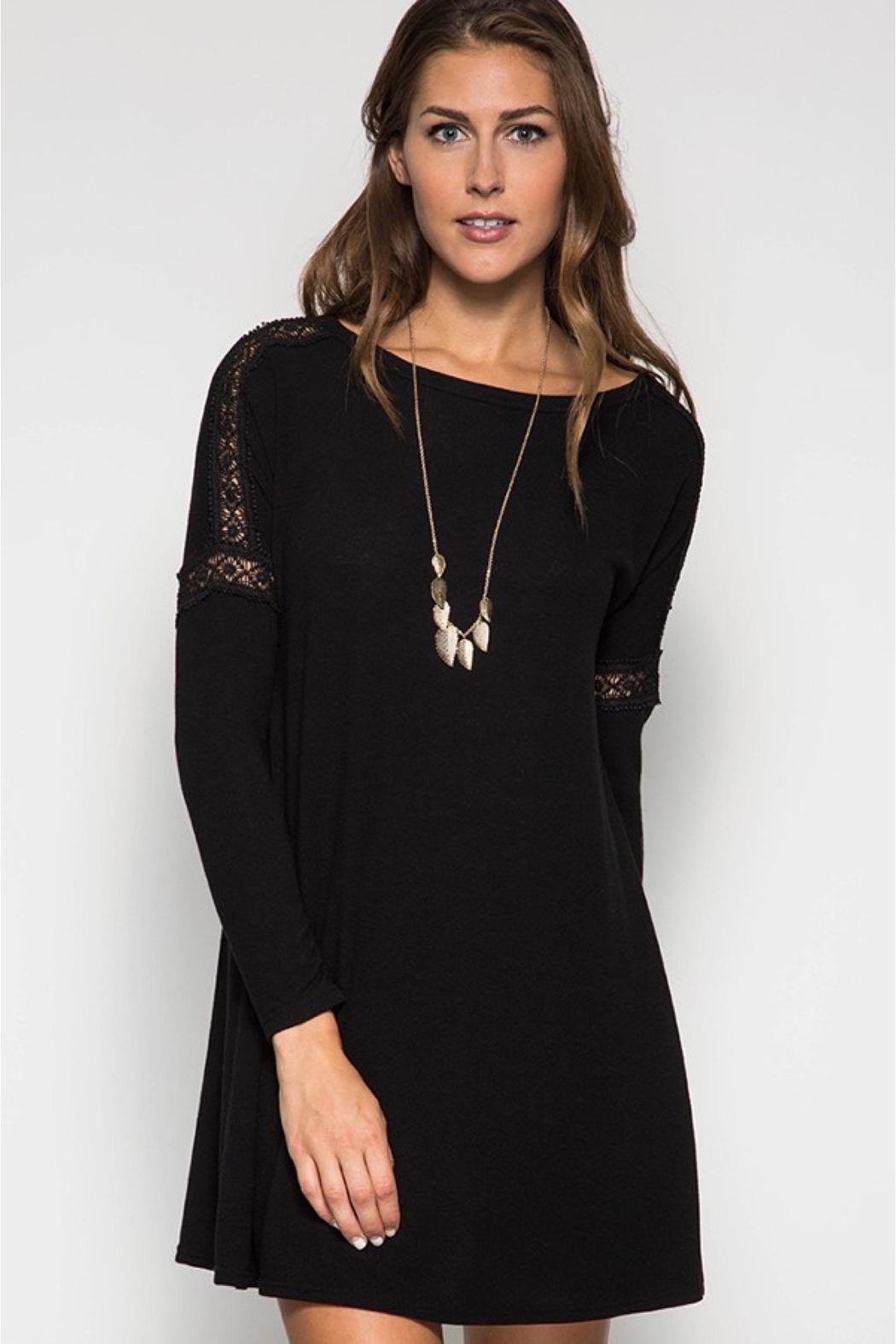 People Outfitter Black Tunic Dress - Main Image