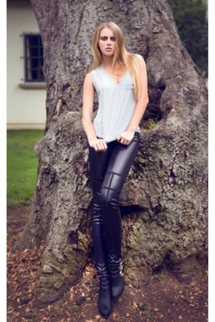 Shoptiques Product: Black Vegan Leather Leggings