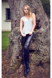 People Outfitter Black Vegan Leather Leggings - Product Mini Image
