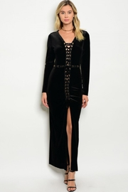 People Outfitter Black Velvet Maxi Dress - Product Mini Image