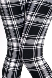 People Outfitter Black&White Plaid Leggings - Front full body