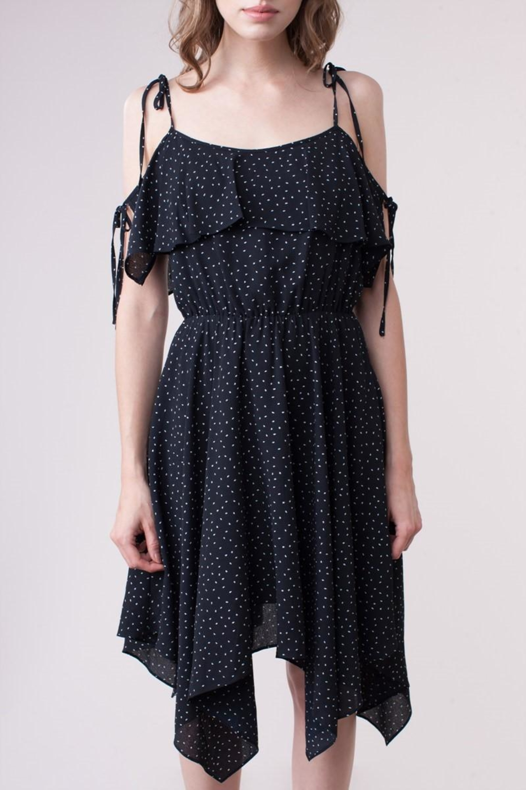 People Outfitter Blanche Ruffle Dress - Back Cropped Image