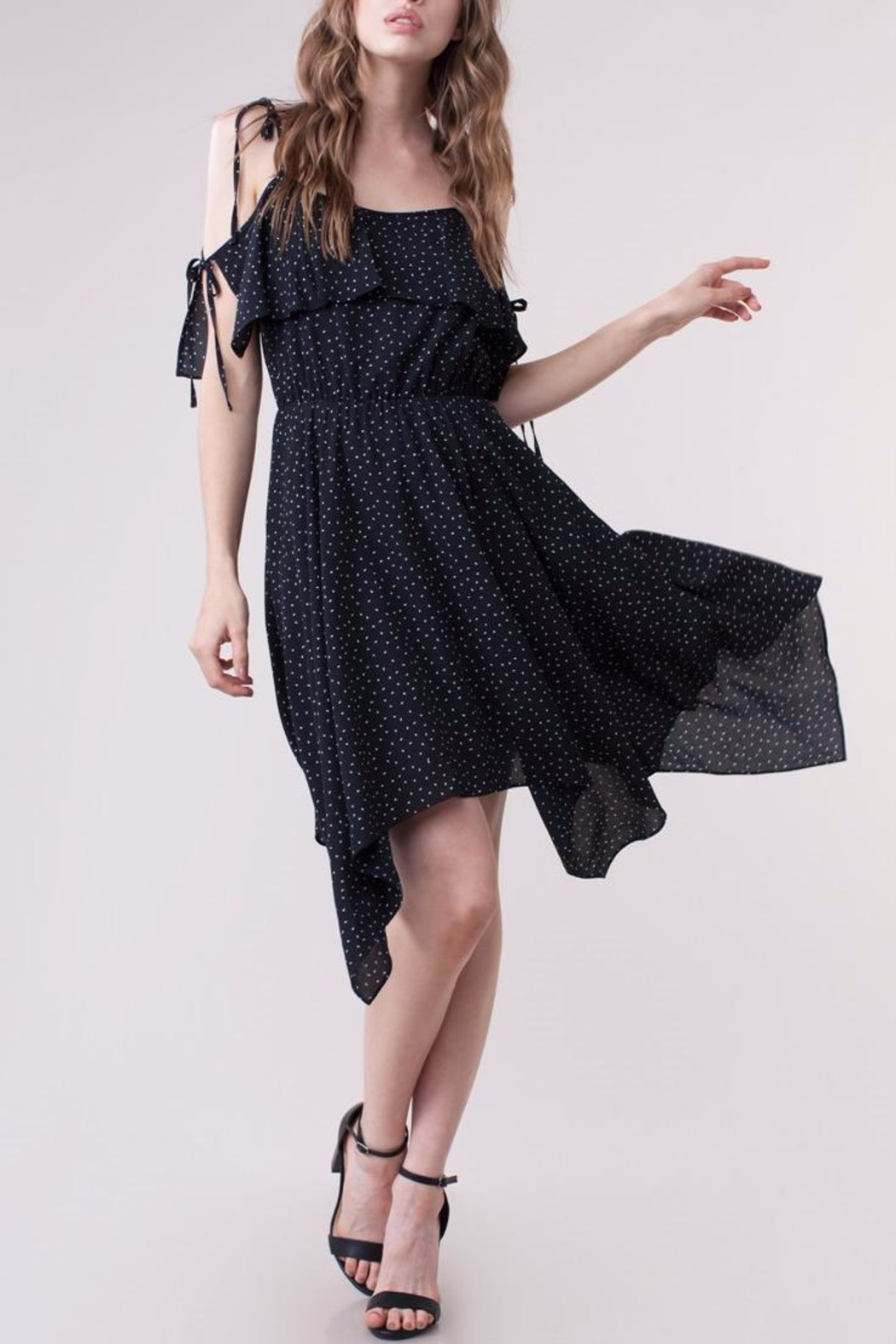People Outfitter Blanche Ruffle Dress - Front Full Image