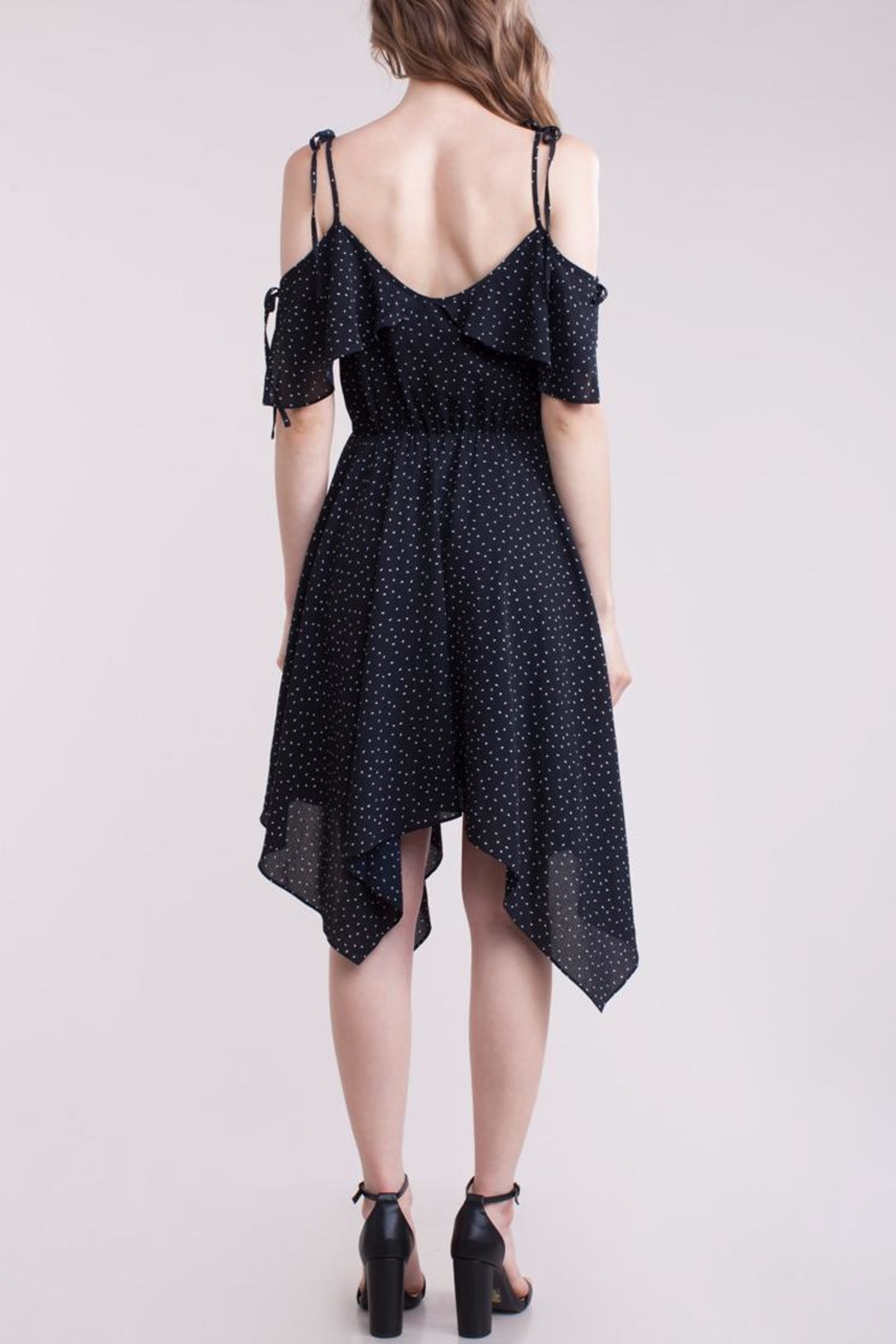 People Outfitter Blanche Ruffle Dress - Side Cropped Image