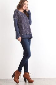 People Outfitter Blue Thin Cotton Sweatshirt - Product Mini Image