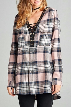 People Outfitter Boyfriend's Plaid Tunic Top - Product List Image