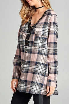 People Outfitter Boyfriend's Plaid Tunic Top - Alternate List Image
