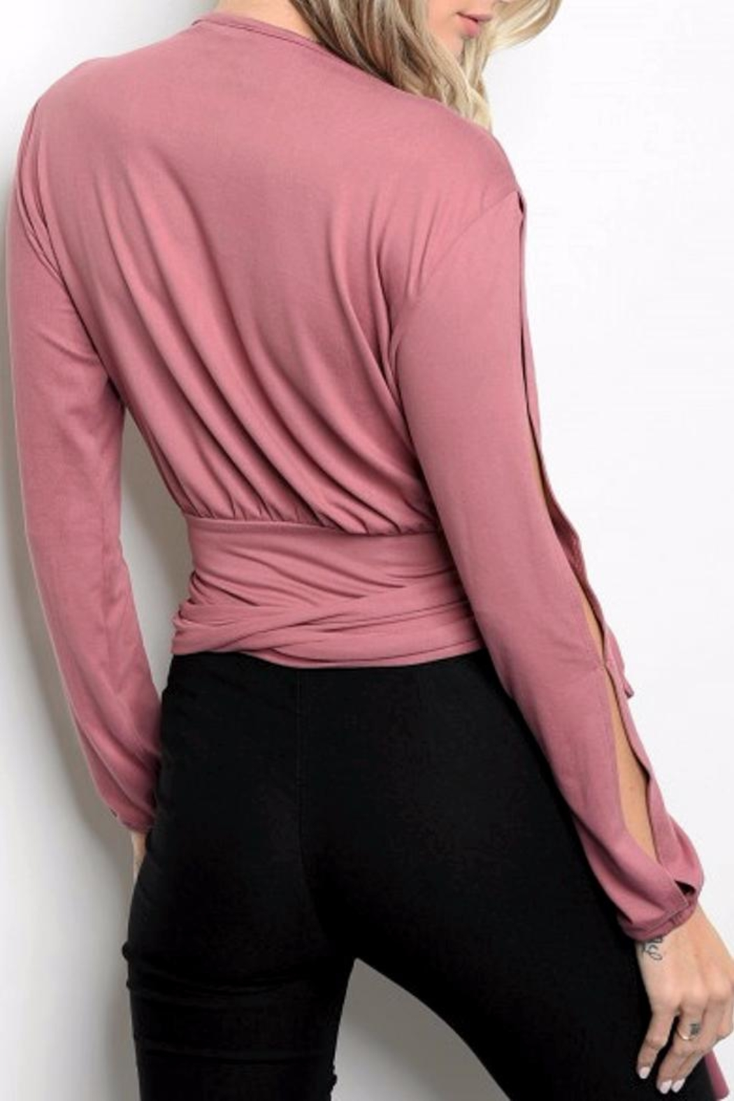 People Outfitter Broadway Wrap Top - Front Full Image