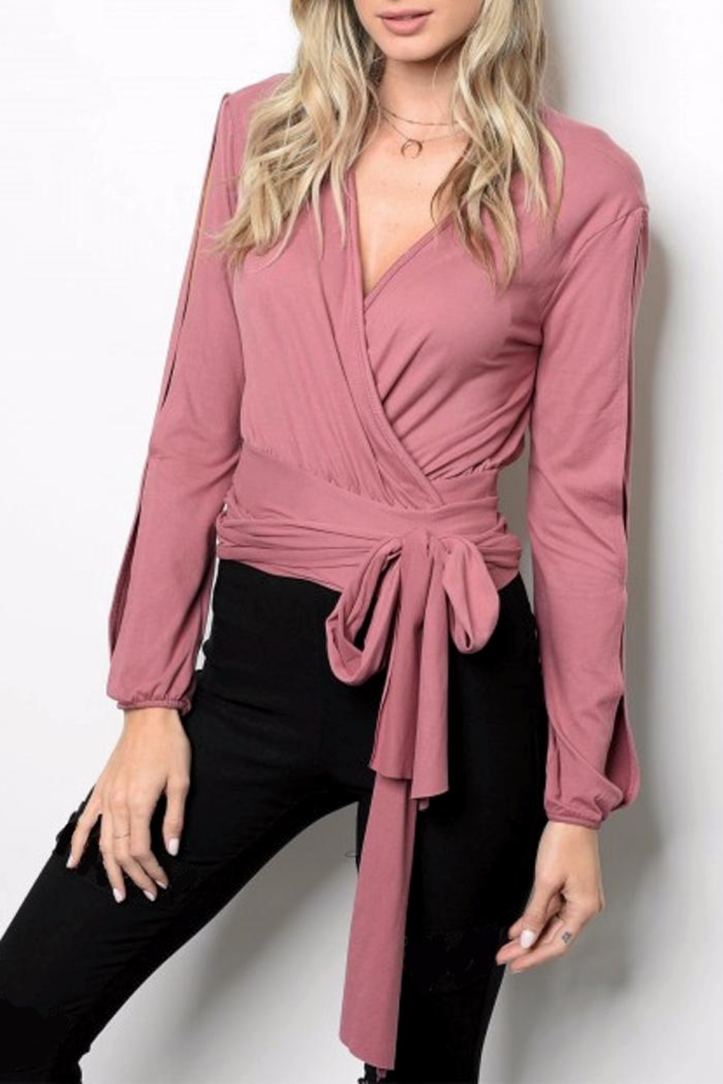 People Outfitter Broadway Wrap Top - Main Image