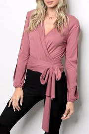 People Outfitter Broadway Wrap Top - Product Mini Image