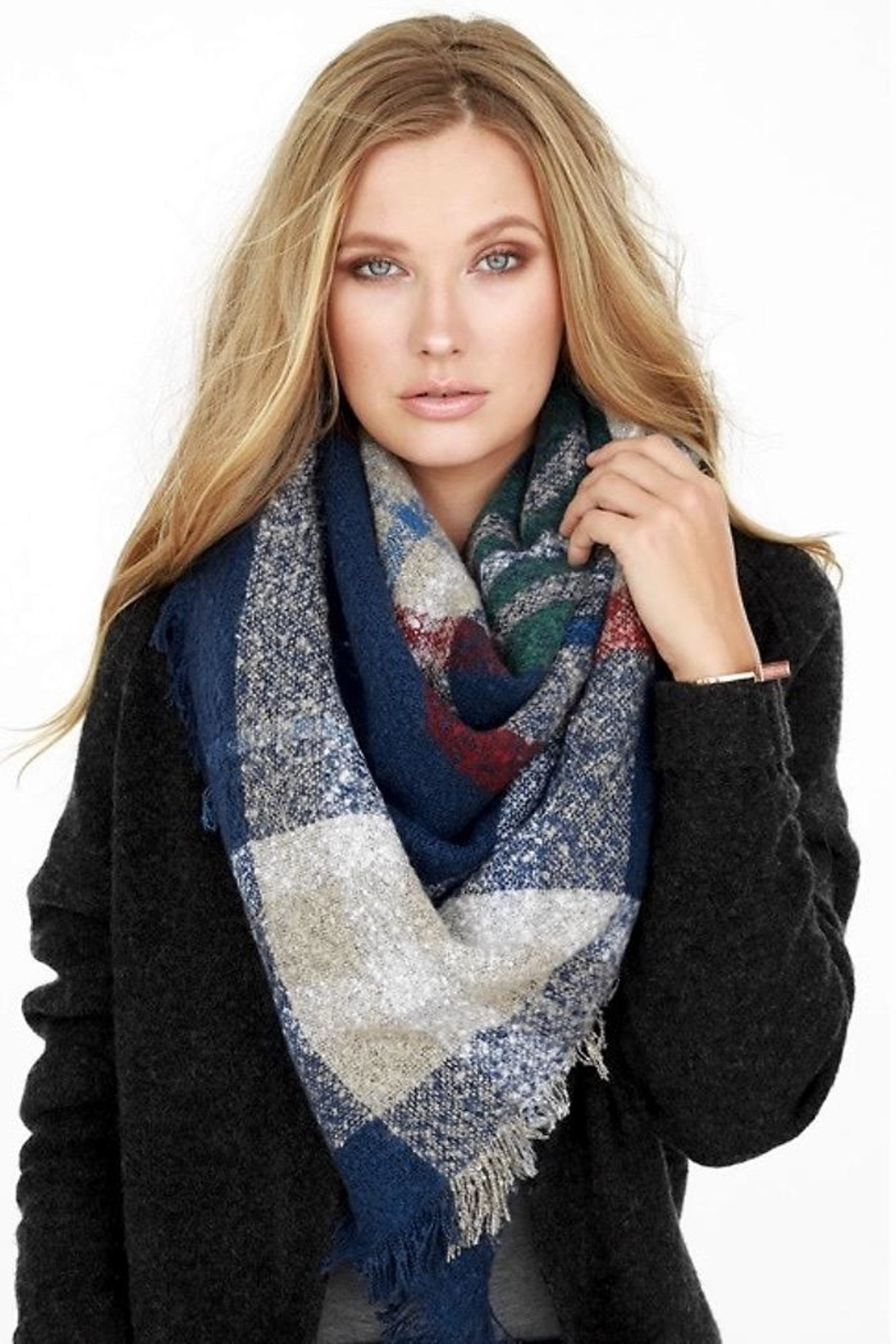 People Outfitter Brushed Plaid Scarf - Main Image