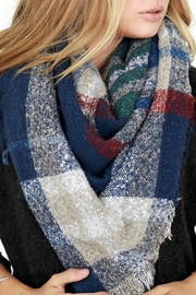 People Outfitter Brushed Plaid Scarf - Front full body