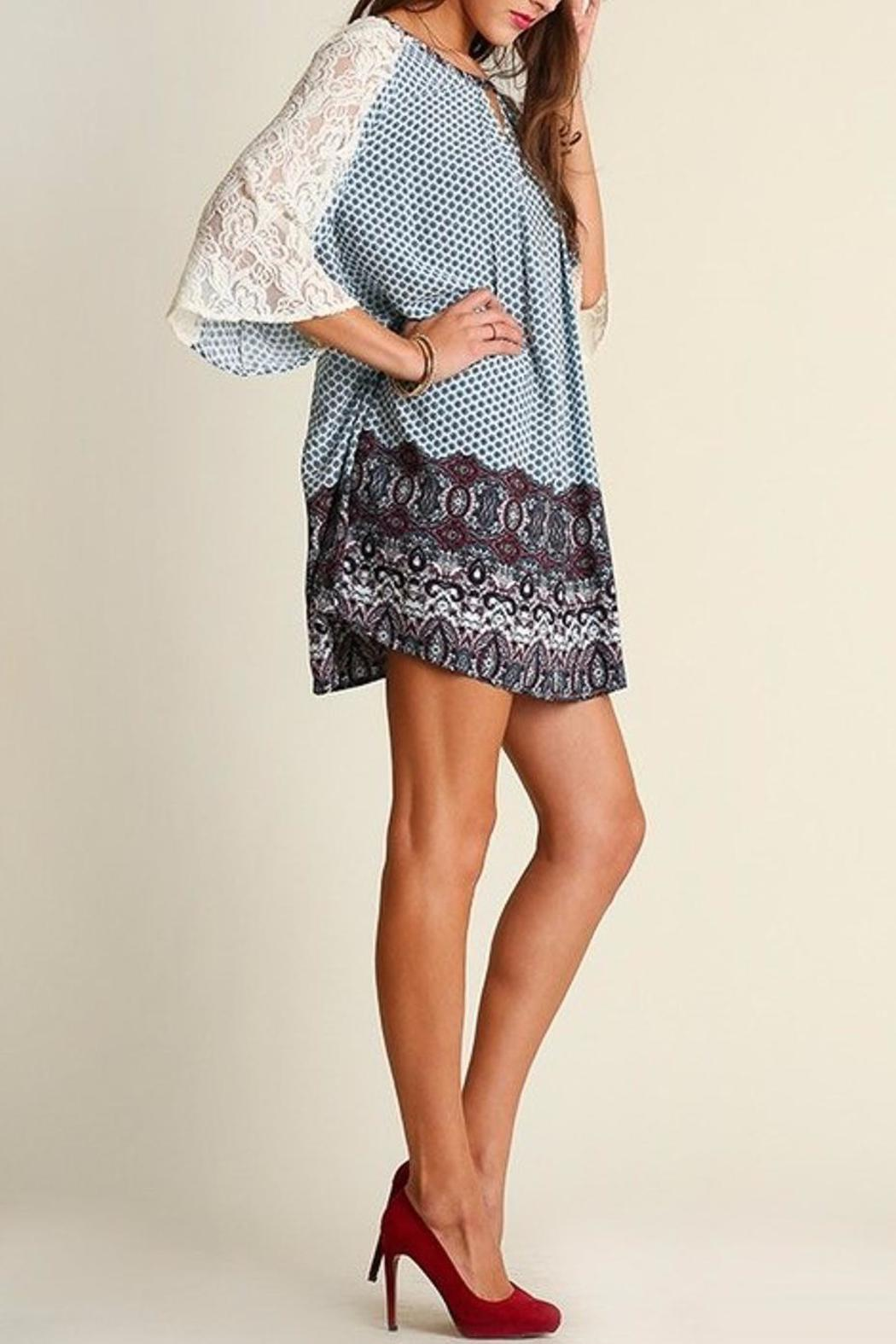 People Outfitter Camilla Blue Dress - Front Cropped Image