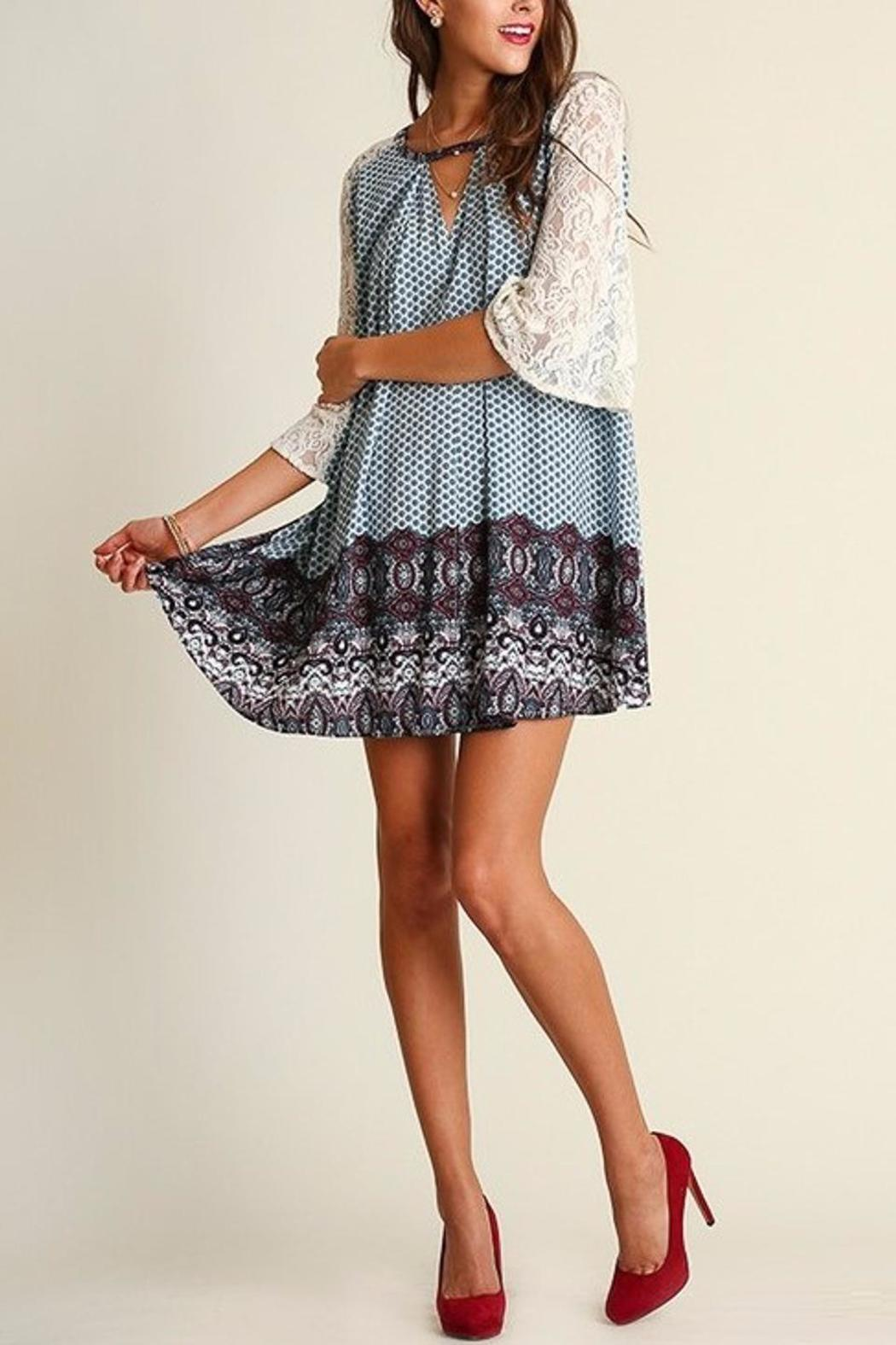 People Outfitter Camilla Blue Dress - Side Cropped Image
