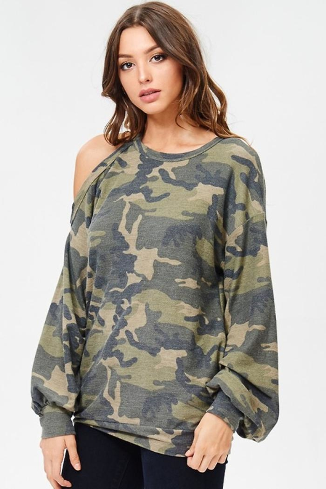 People Outfitter Camo Stay Pullover - Front Full Image