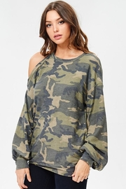 People Outfitter Camo Stay Pullover - Front full body