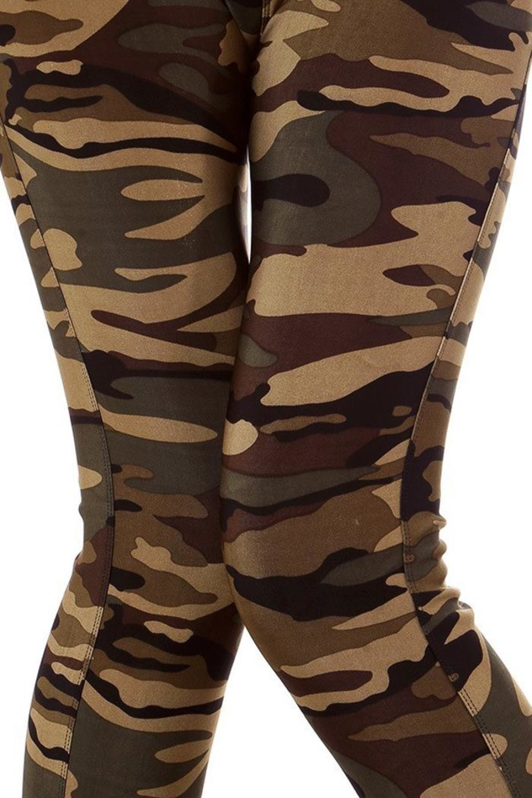 People Outfitter Camo Leggings - Back Cropped Image