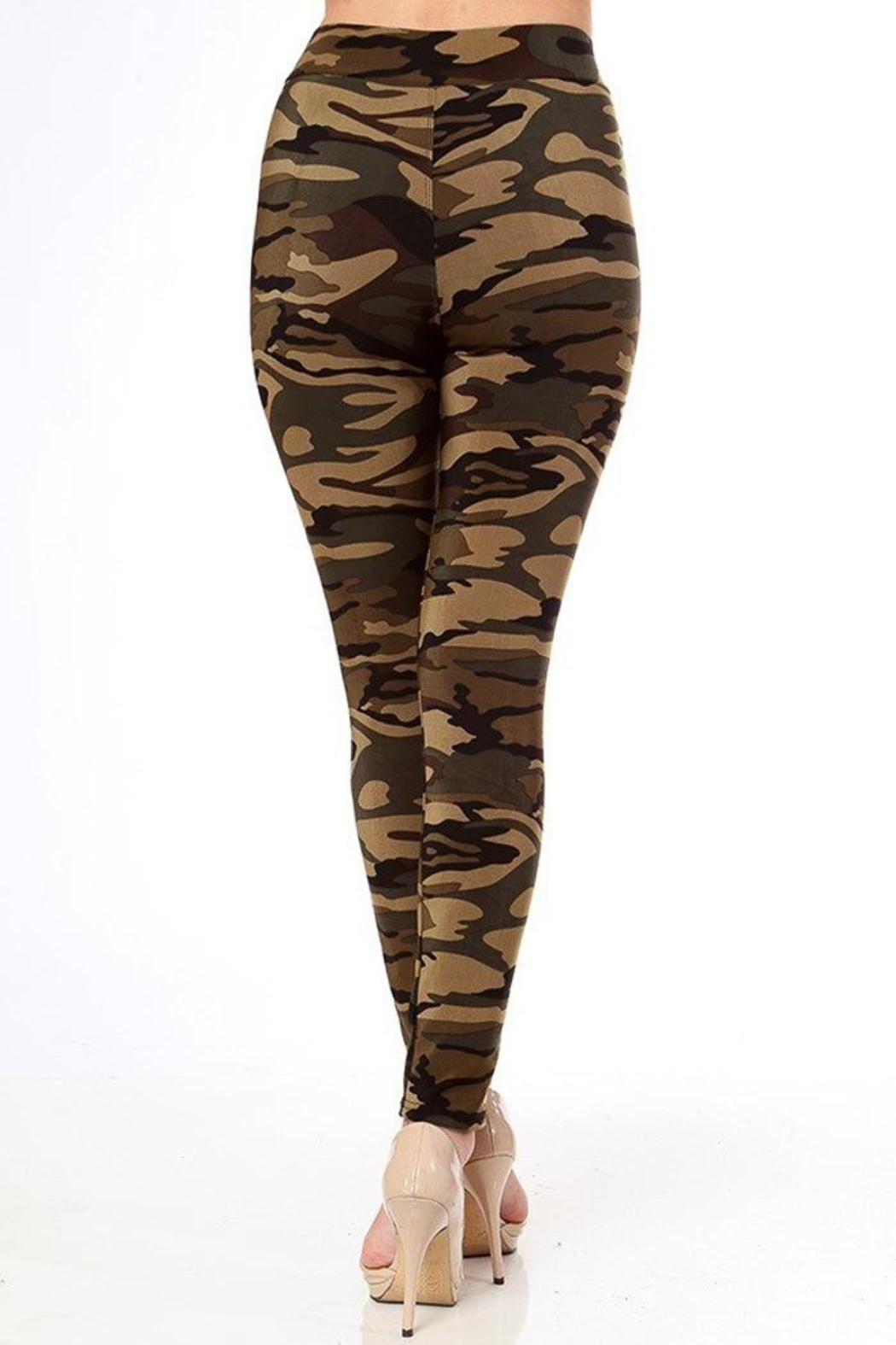 People Outfitter Camo Leggings - Front Full Image