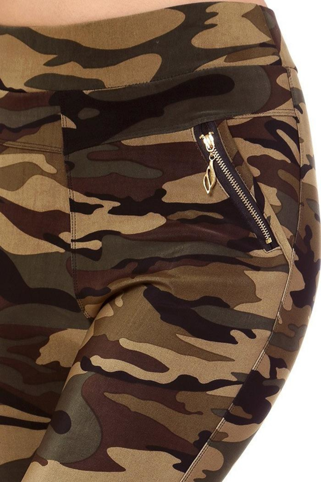 People Outfitter Camo Leggings - Side Cropped Image
