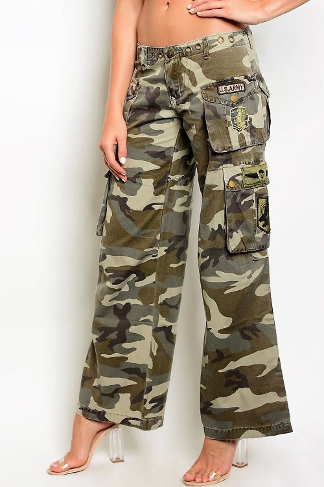 People Outfitter Camouflage Cargo Pants - Main Image