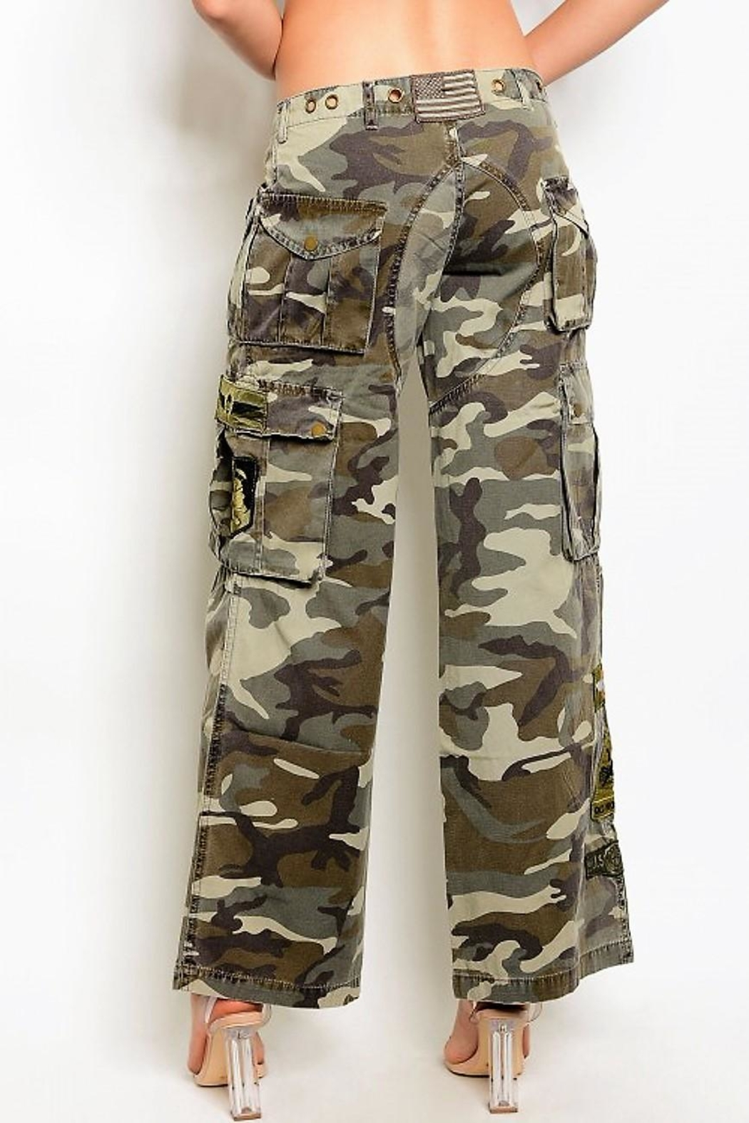 People Outfitter Camouflage Cargo Pants - Front Full Image