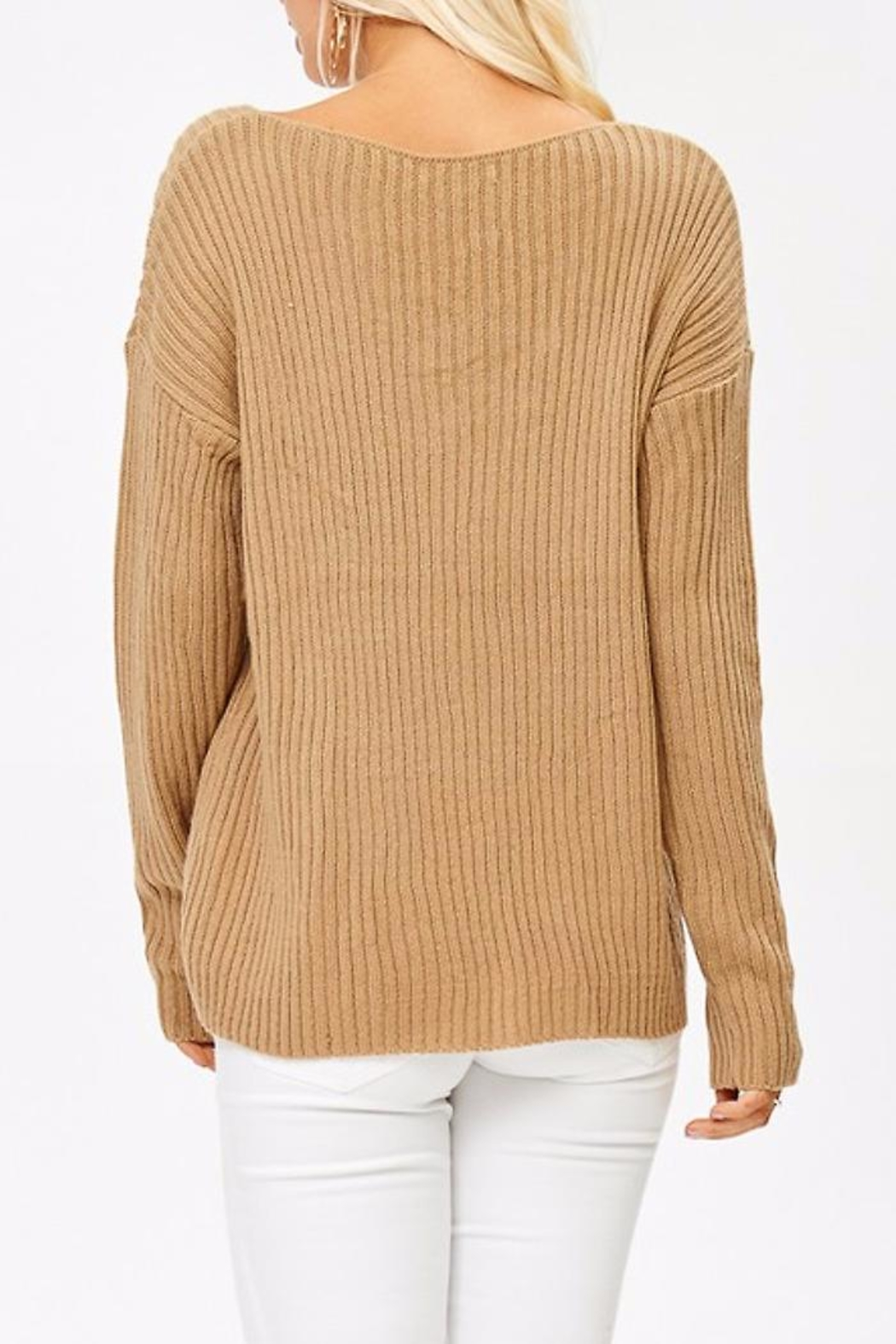 People Outfitter Caramel Sweater - Front Full Image