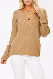 People Outfitter Caramel Sweater - Front cropped