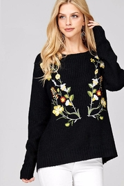 People Outfitter Catriona Embroidery Sweater - Product Mini Image