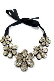 People Outfitter Champagne Crystal  Flower Bib Necklace - Product Mini Image