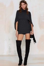 People Outfitter Charcoal Grey Cape Sweater - Product Mini Image
