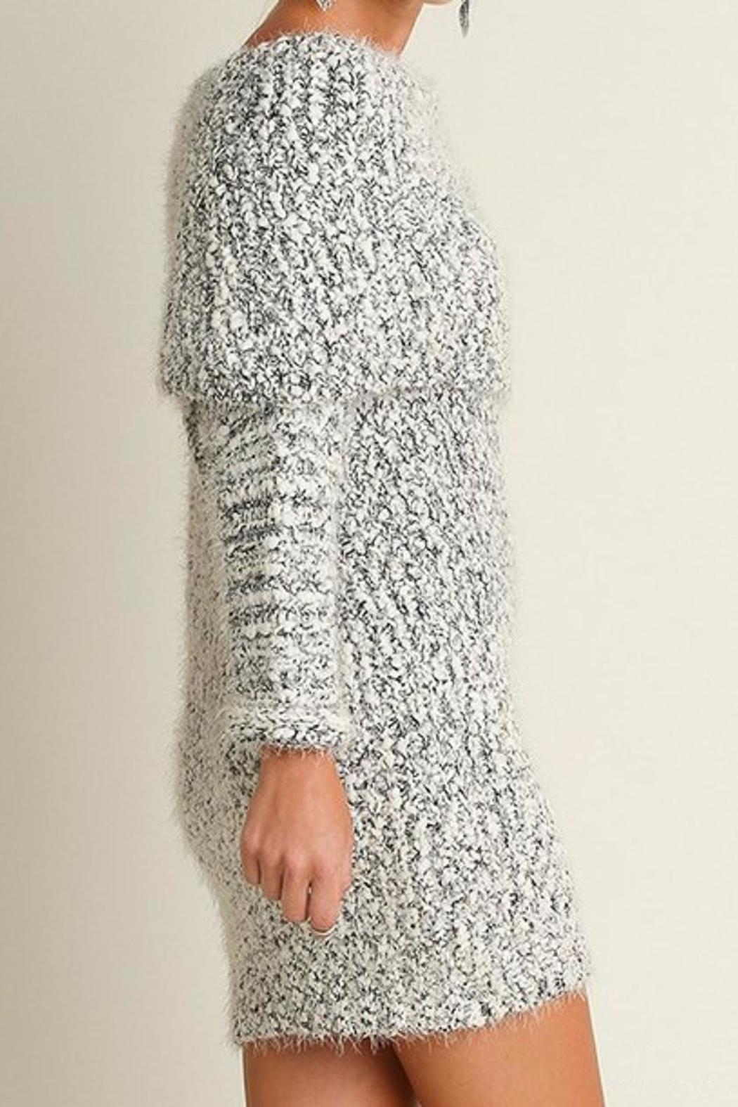 People Outfitter Chunky Knit Dress - Front Full Image