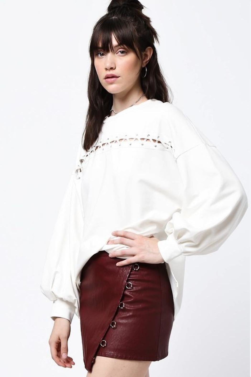 People Outfitter Clear Pure Top - Front Full Image