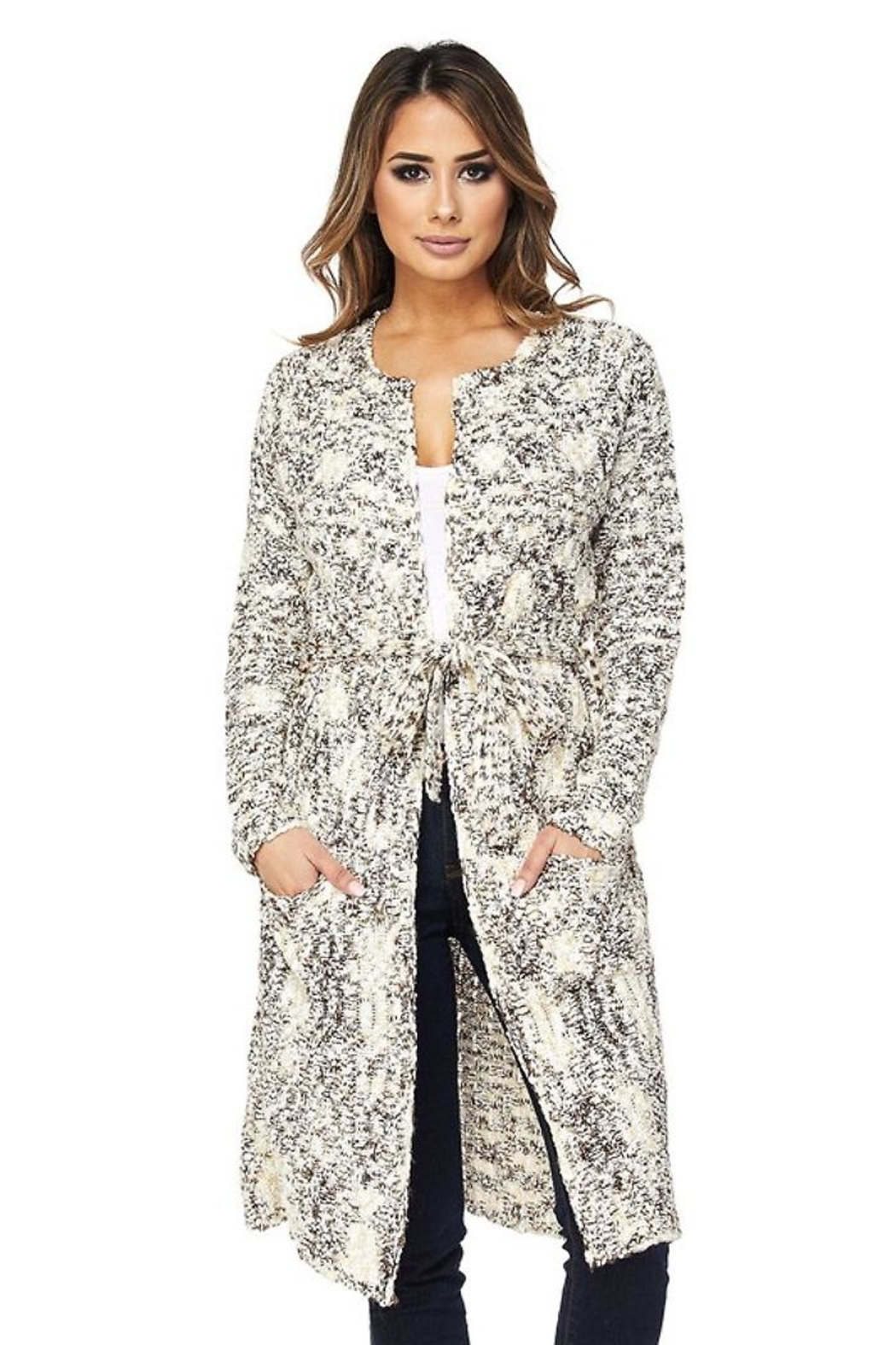 People Outfitter Cookies'n Cream Cardigan - Main Image