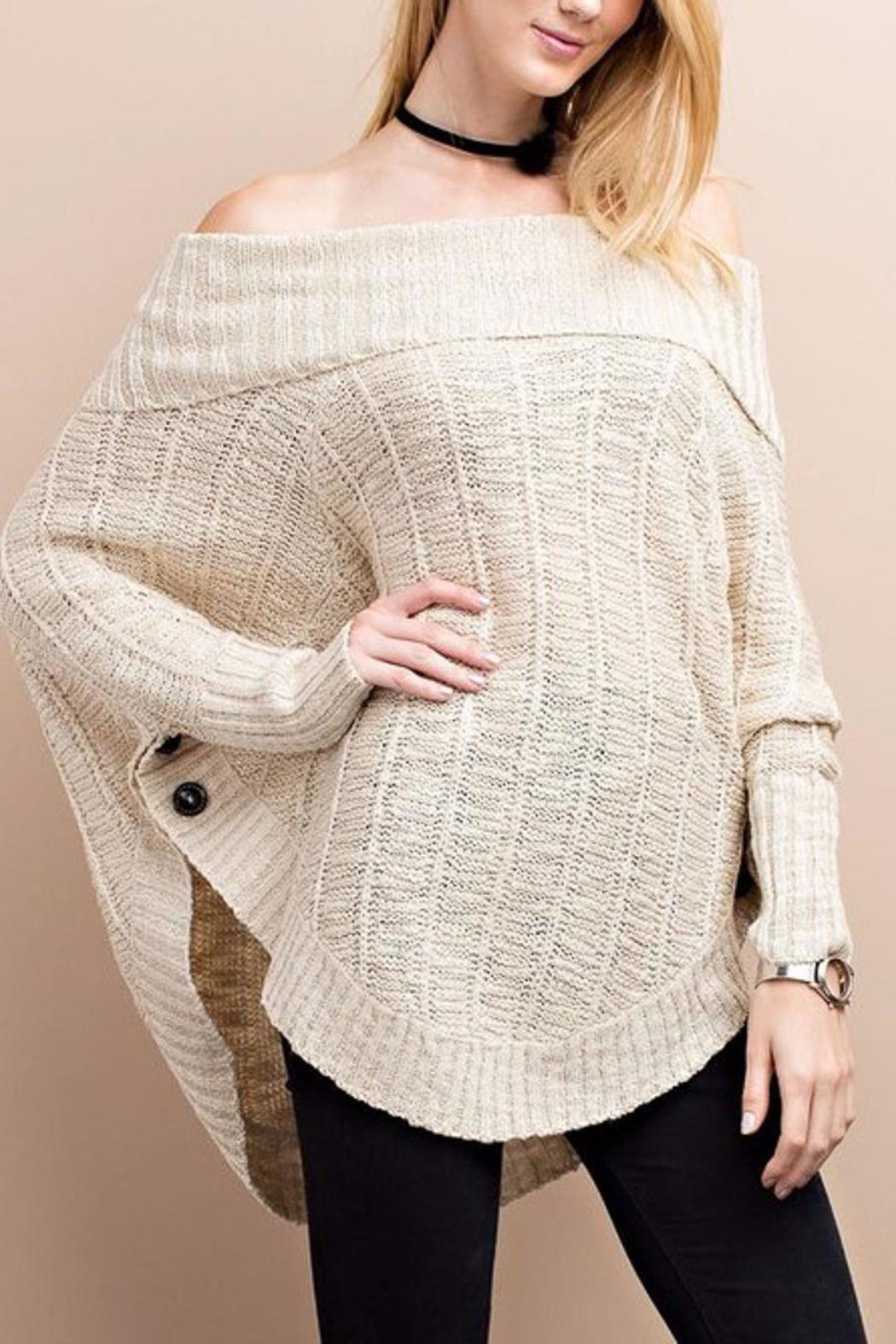 People Outfitter Cozy Vintage Sweater - Front Full Image