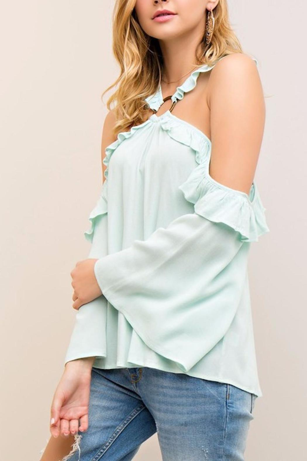 People Outfitter Crazy Hearts Top - Front Full Image