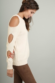 People Outfitter Cream Cut Out Sweater - Product Mini Image