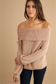 People Outfitter Cream Off Shoulder Sweater - Product Mini Image