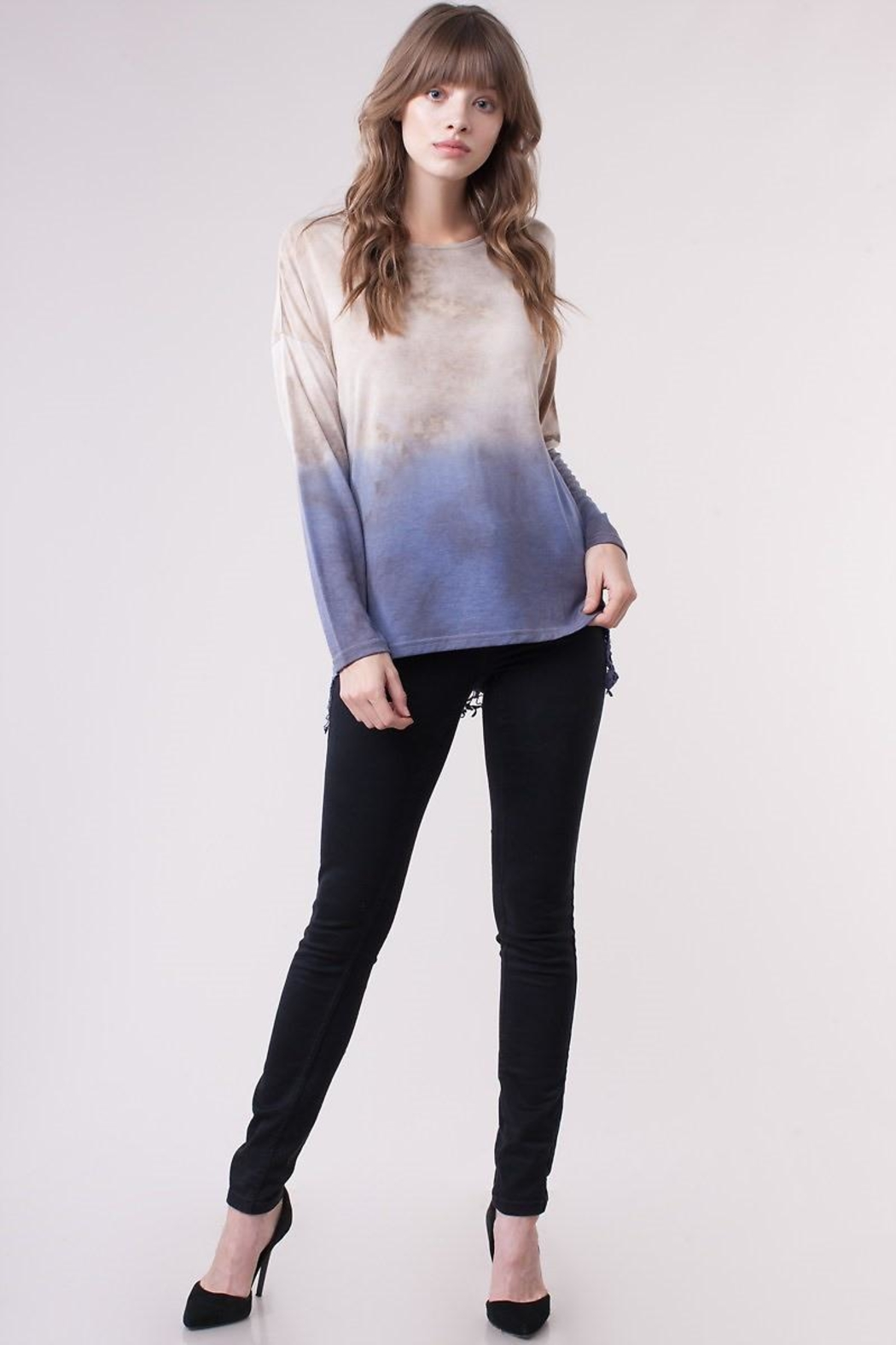 People Outfitter Crochet Dip-Dye Top - Front Full Image