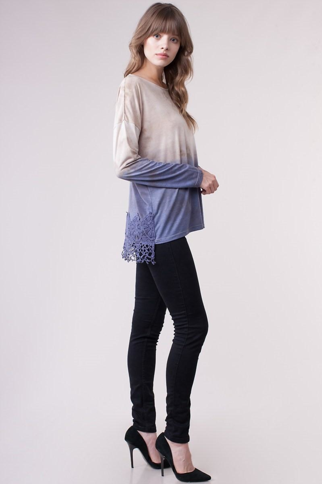 People Outfitter Crochet Dip-Dye Top - Main Image