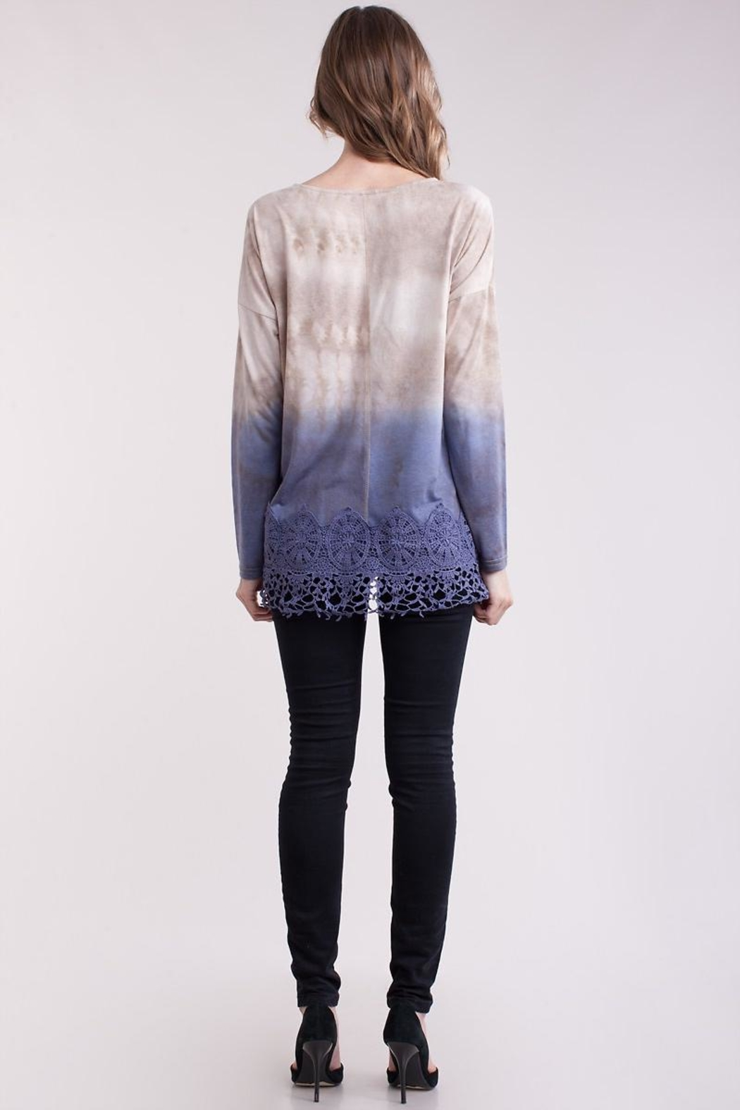 People Outfitter Crochet Dip-Dye Top - Side Cropped Image