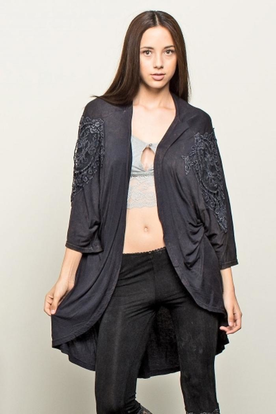 People Outfitter Crochet Distressed Top - Main Image